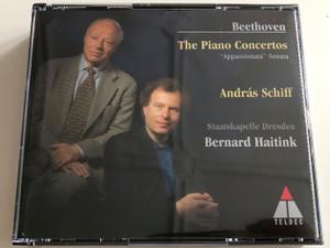 "Beethoven - The Piano Concertos ""Appassionata"" Sonata / András Schiff, piano / Staatskapelle Dresden - Bernard Haitink / Teldec / 3 x Audio CD 1997 (706301315927)"