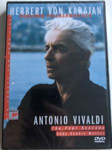 Herbert Von Karajan - Berliner Philharmoniker: Antonio Vivaldi - The Four Seasons / Anne-Sophie Mutter, violin Sony Music DVD 1998 / SVD 46380 (5099704638096)