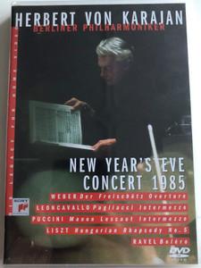 Herbert Von Karajan - New Year's Eve Concert DVD 1985 Berliner Philharmoniker / Weber, Leoncavallo, Puccini, Liszt, Ravel / SVD 46402 (5099704640297)