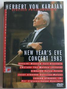 Herbert Von Karajan - New Year's Eve Concert DVD 1983 / Berliner Philharmoniker / Rossini, Smetana, Sibelius, Josef Strauss, Johann Strauss Jr. / SVD 46401 (5099704640198)