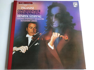 Paganini - Concertos Pour Violon N°s 1 Et 4 / Henryk Szeryng, London Symphony Orchestra / Alexander Gibson ‎/ PHILIPS LP STEREO / 9500 069