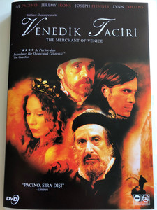 William Shakespeare's The Merchant of Venice DVD 2004 Venedik Taciri / Directed by Michael Radford / Starring: Al Pacino, Jeremy Irons, Joseph Fiennes, Lynn Collins (8698907901463)