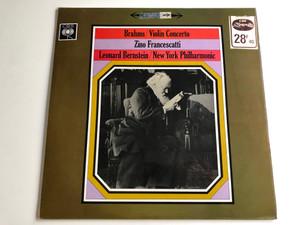 Brahms - Violin Concerto / Zino Francescatti / Leonard Bernstein / New York Philharmonic / CBS LP STEREO / SBRG 72130