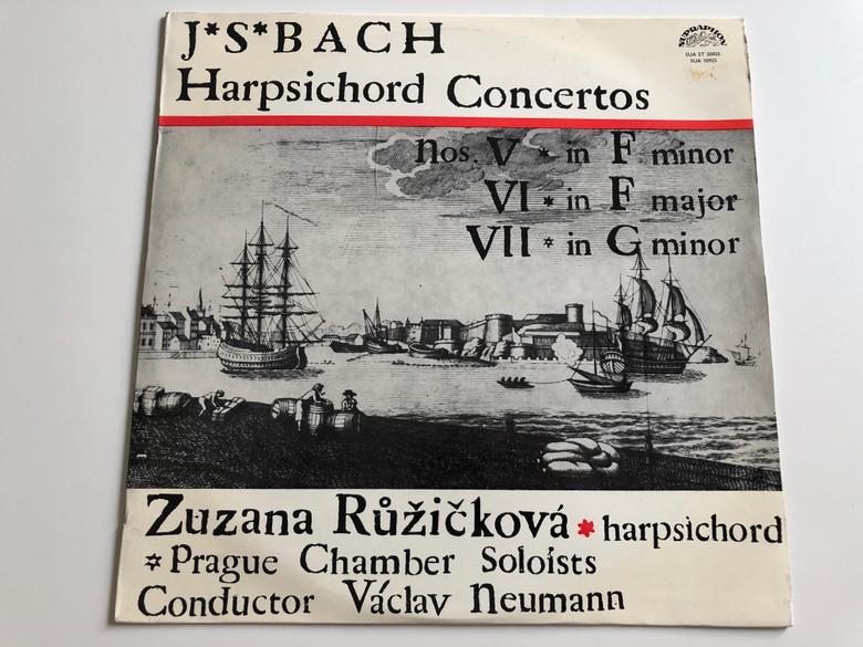 J. S. Bach - Harpsichord Concertos / Nos. V In F Minor, VI In F Major, VII In G Minor / Zuzana Růžičková / Prague Chamber Soloists / Conductor: Václav Neumann / SUPRAPHON LP / SUA 10925, SUA ST 50925