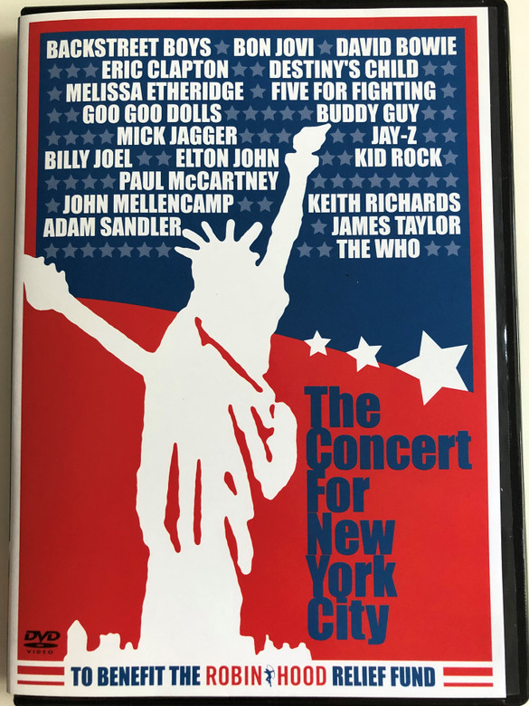 The Concert For New York City DVD 2001 / 2 Disc SET / To Benefit the Robin Hood Relief Fund / Backstreet Boys, Bon Jovi, Eric Clapton, Mick Jagger, Elton John, Keith Richards, The Who (5099705420591)
