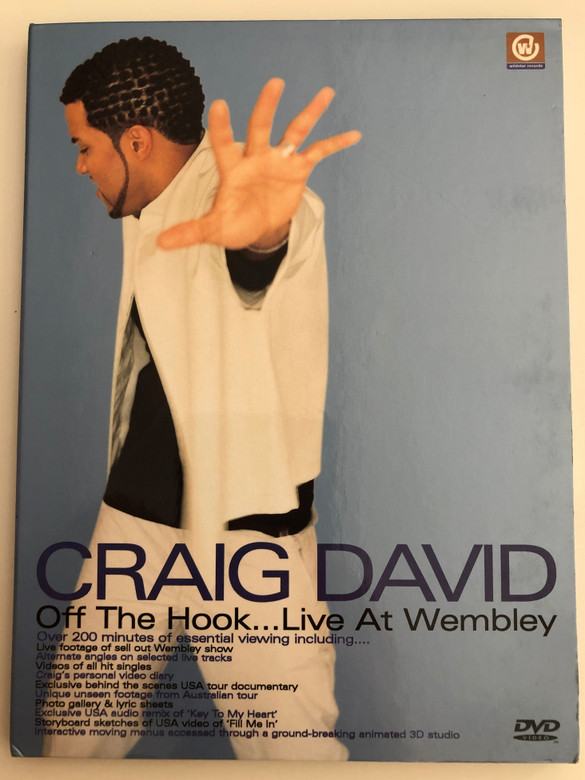 Craig David - Off the hook - Live at Wembley DVD 2001 / Over 200 minutes of essential viewing (4029758331682)