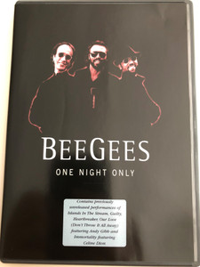 Bee Gees - One night Only DVD / Contains previously unreleased performances of Islands In the Sream, Guilty, Heartbreaker ft. Andy Gibb, Immortality ft. Celine Dion (5034504903876)