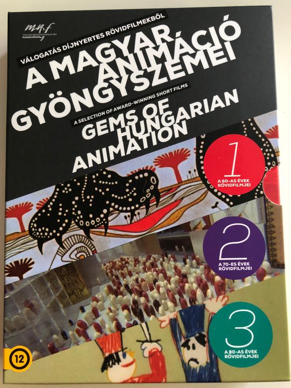 Gems of Hungarian Animation Vol 1-3. DVD 2019 A magyar animáció gyöngyszemei Vol 1.-3. / 3 DVD SET (5999887816536)