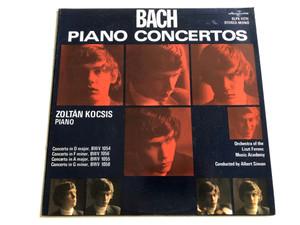 Bach - Piano Concertos / Piano: Zoltán Kocsis / Orchestra Of The Liszt Ferenc Music Academy / Conducted: Albert Simon / HUNGAROTON LP STEREO - MONO / SLPX 11711