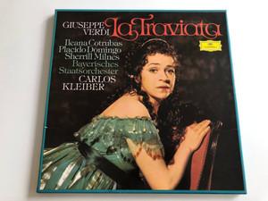 Giuseppe Verdi – La Traviata / Conducted: Carlos Kleiber / Ileana Cotrubas, Placido Domingo, Sherrill Milnes, Bayerisches Staatsorchester / Deutsche Grammophon 2X LP STEREO / 2707 103