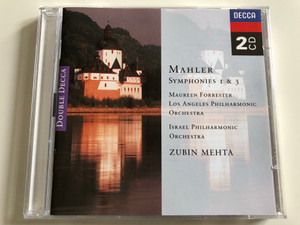 Mahler Symphonies 1 & 3 / Maureen Forrester / Los Angeles Philharmonic Orchestra / Israel Philharmonic Orchestra / Conducted by Zubin Mehta / 2x Audio CD 1994 / Decca BA 925 (028944303025)