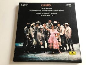 Bizet - Carmen / Teresa Berganza, Placido Domingo, Ileana Cotrubas, Sherrill Milnes / London Symphony Orchestra / Conducted: Claudio Abbado / HUNGAROTON 3X LP STEREO / SLPXL 12230 - 32