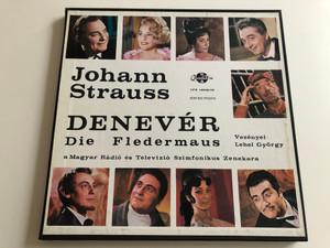 Johann Strauss – Denevér Die Fledermaus / Conducted: György Lehel / Magyar Rádió És Televízió Szimfónikus Zenekara / QUALITON 2X LP STEREO - MONO / LPX 16558/59