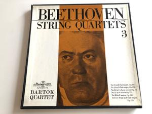 Beethoven - String Quartets 3 / Bartók Quartet / No. 12 In E Flat Major, Op. 127 / No. 13 In B Flat Major, Op. 130 / No. 14 In C Sharp Minor, Op. 131 / HUNGAROTON 4X LP STEREO - MONO / SLPX 11673 - 76