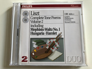 Liszt - Complete Tone Poems Volume 2 - including Mephisto Waltz No. 1, Hungaria, Hamlet / London Philharmonic Orchestra / Conducted by Bernard Haitink / Philips Classics 2 CD 1993 / 438 754-2 (028943875424)