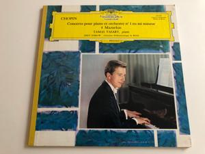 Chopin - Concerto Pour Piano Et Orchestre N°1 En Mi Mineur - 4 Mazurkas / Tamas Vasary, piano / Conducted: Jerzy Semkow, Orchestre Philarmonique De Berlin / Deutsche Grammophon LP STEREO - MONO / 136 453