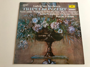 Ludwig van Beethoven - Tripelkonzert / Triple Concerto / Géza Anda, Wolfgang Schneiderhan, Pierre Fournier / Radio - Symphonie - Orchester Berlin / Conducted: Ferenc Fricsay / HUNGAROTON LP STEREO / SLPXL 31211