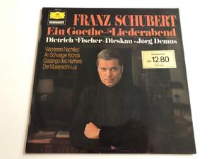 Franz Schubert - Ein Goethe - Liederabend / Dietrich Fischer-Dieskau, Jörg Demus / Deutsche Grammophon LP STEREO / 2535 104