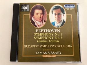 Beethoven - Symphony No. 1, No. 2, Coriolan - Overture / Budapest Symphony Orchestra / Conducted by Tamás Vásáry / Hungaroton Classic Audio CD 1997 / HCD 31717 / Live Recording (5991813171726)