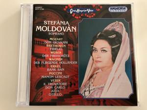 Stefánia Moldován soprano / Great Hungarian Voices / Mozart, Beethoven, Weber, Wagner, Erkel, Puccini, Verdi / Hungaroton Classic Audio CD 1997 / HCD 31769 (5991813167729)