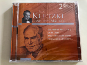Paul Kletzki Conducts Mahler / Symphonies No. 1, 4 & 5 / Emmy Loose / Wiener Philharmoniker, Philharmonia Orchestra / 2 Royal Long Players / Audio CD 2000 / Disky DCL 706722 (0724357067225)