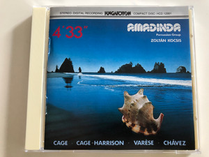 Amadinda Percussion Group - Works by Varése, Chávez, Cage & Harrison / With Zoltán Kocsis piano, Aurél Holló, Benedek Tóth percussion / Hungaroton HCD 12991 / Audio CD 1989 (5991811299125)