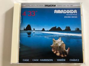 Amadinda Percussion Group - Works by Varése, Chávez, Cage & Harrison / With Zoltán Kocsis piano, Aurél Holló, Benedek Tóth percussion / Hungaroton HCD 12991 / Audio CD 1989 (5991811299125)