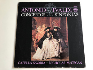 Antonio Vivaldi - Concertos And Sinfonias / Conducted: Nicholas McGegan / Capella Savaria / HUNGAROTON LP STEREO / SLPD 12547