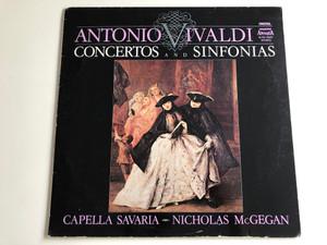Antonio Vivaldi - Concertos And Sinfonias / Conducted: Nicholas McGegan / Capella Savaria / HUNGAROTON LP STEREO / SLPD 12547