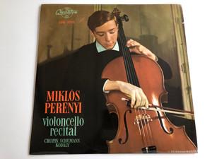 Miklós Perényi – Violoncello Recital / Chopin, Schumann, Kodály / QUALITON LP / LPX 1212