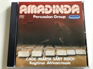 Amadinda Percussion Group / Cage, Márta, Sáry, Reich / Ragtime - African music / Hungaroton Classic Audio CD 1994 / HCD 12855 (5991811285524)