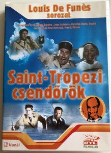 Le Gendarme de St. Tropez DVD 1964 Saint-Tropezi csendőrök (The Troops of St. Tropez) / Directed by Jean Girault / Starring: Louis de Funés, Geneviéve Grad, Michel Galabru, Jean Lefebvre, Christian Marin / Louis de Funés Sorozat (5999545581325)