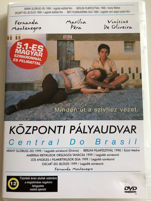 Central Do Brasil DVD 1998 Központi pályaudvar (Central Station) / Directed by Walter Salles / Starring: Fernanda Montenegro, Vinícius de Oliveira, Marília Pêra (5999551920309)