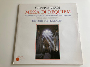 Giuseppe Verdi - Messa Di Requiem / Zadek, Klose, Roswaenge, Christoff / Conducted: Herbert von Karajan / RODOLPHE PRODUCTIONS 2X LP / RP 12403-04