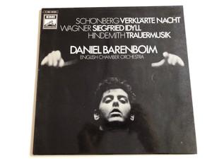 Schönberg - Verklärte Nacht / Wagner - Siegfried Idyll / Hindemith - Trauermusik / Conducted: Daniel Barenboim / English Chamber Orchestra / EMI ELECTROLA LP / 1C 063-00 353