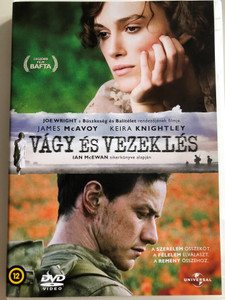 Atonement DVD 2007 Vágy és Vezeklés / Directed by Joe Wright / Starring: James McAvoy, Keir Knightley / Based on Ian McEwan's bestseller (5996051050024)