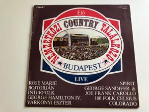 Nemzetközi Country Találkozó, Budapest / Live / Rose Marie, Bojtorjan, Interfolk, George Hamilton IV, Varkonyi Eszter / START LP STEREO / SLPM 17745
