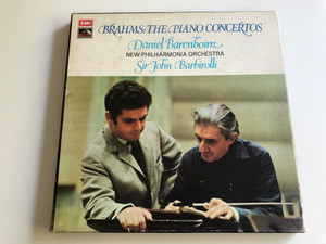 Brahms: The Piano Concertos / Daniel Barenboim, New Philharmonia Orchestra / Conducted: Sir John Barbirolli / EMI His Master's Voice ‎2X LP / SLS 874