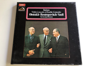 Brahms ‎– Violin Concerto & Double Concerto / Oistrakh, Rostropovich, Szell / The Cleveland Orchestra / His Master's Voice 2X LP STEREO / ‎SLS 786/2