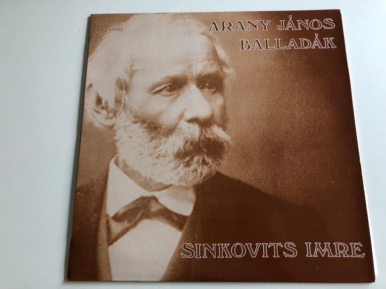 Arany János - Balladák / Sinkovits Imre / HUNGAROTON LP STEREO / SLPX 13903