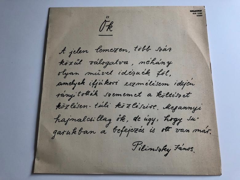 Pilinszky János – Ők / HUNGAROTON LP STEREO / SLPX 13 886