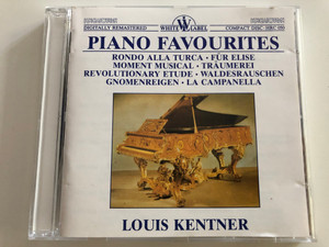 Piano Favourites / Louis Kentner piano / Rondo Alla Turca, Für Elise, Moment Musical, Revolutionary Etude, La Campanella / Hungaroton White Label Audio CD 1987 / HRC 050