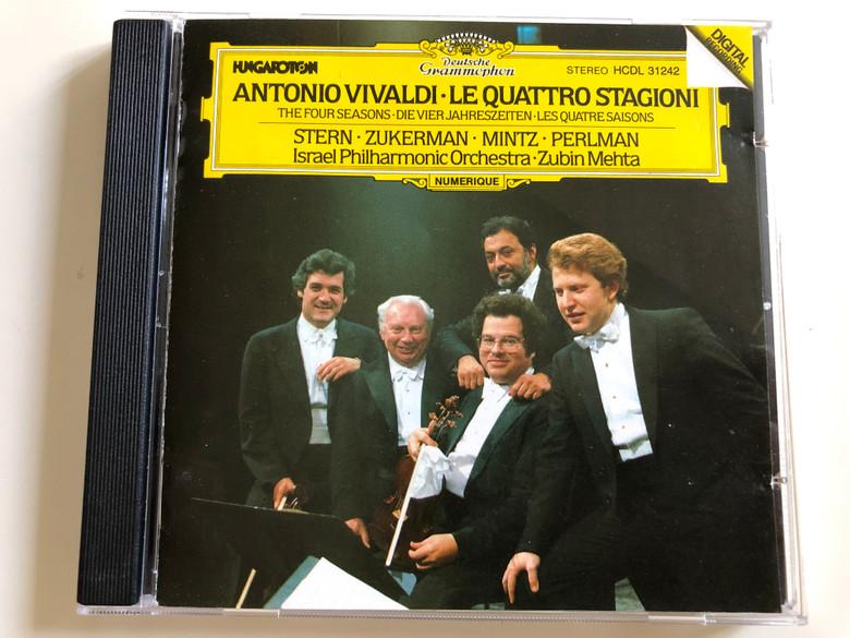 Antonio Vivaldi - Le Quattro Stagioni / The Four Seasons / Stern, Zukerman, Mintz, Perlman / Israel Philharmonic Orchestra / Conducted by Zubin Mehta / Hungaroton Audio CD 1983 / HCDL 31242