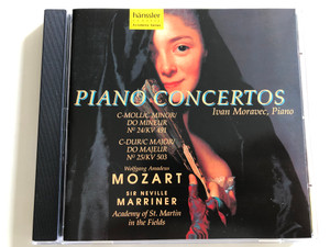 W. A. Mozart - Piano Concertos / C-Minor, C-Major / Sir Neville Marriner / Ivan Moravec piano / Academy of St. Martin in the Fields / Audio CD 1997 / Hänssler Classic (4010276004417)