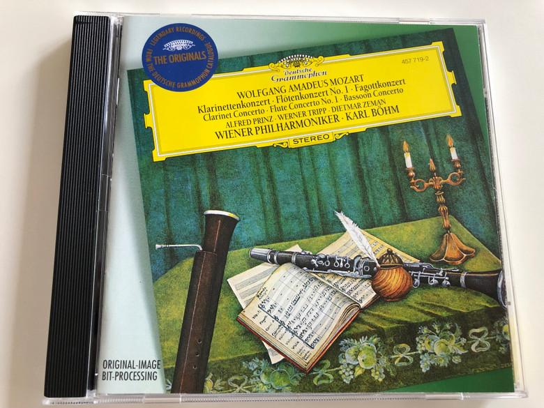 Wolfgang Amadeus Mozart - Klarinettenkonzert / Clarinet Concerto / Alfred Prinz, Werner Tripp, Dietmar Zeman / Wiener Philharmoniker / Conducted by Karl Böhm / Audio CD / 457 719-2 (028945771922)
