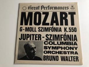 Mozart - G-moll Szimfonia K. 550 / Jupiter - Szimfonia / Columbia Symphony Orchestra / Conducted: Bruno Walter / HUNGAROTON LP STEREO / SLPXL 12606