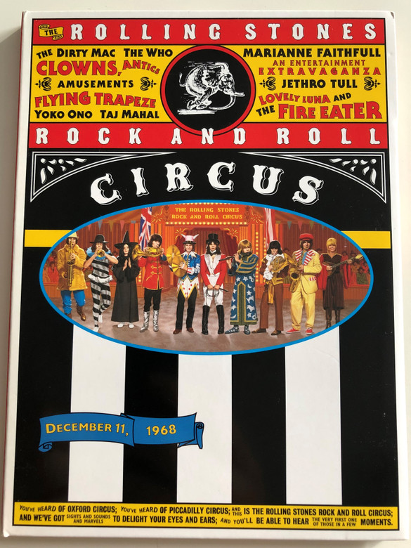 The Rolling Stones Rock and Roll Circus DVD 1968 / Directed by Michael Lindsay Hogg / Jethro Tull, The Who, The Dirty Mac (602498248997)