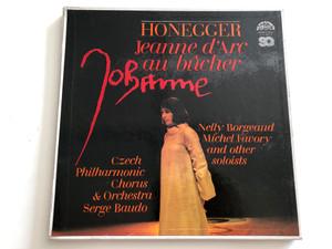 Honegger – Jeanne D'Arc Au Bûcher / Czech Philharmonic Chorus & Orchestra / Conducted: Serge Baudo / Nelly Borgeaud, Michel Favory / SUPRAPHON 2X LP STEREO/QUAD / 4 12 1651/2