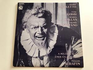 Verdi - Rigoletto / Tito Gobbi, Maria Callas, Giuseppe di Stefano / Tullio Serafin / HUNGAROTON 2X LP STEREO / SLPXL 12439-40