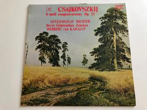 Csajkovszkij – B-Moll Zongoraverseny Op. 23 / Szvjatoszlav Richter, Bécsi Szimfonikus Zenekar / Conducted: Herbert Von Karajan / HUNGAROTON LP STEREO - MONO / SLPX 12074